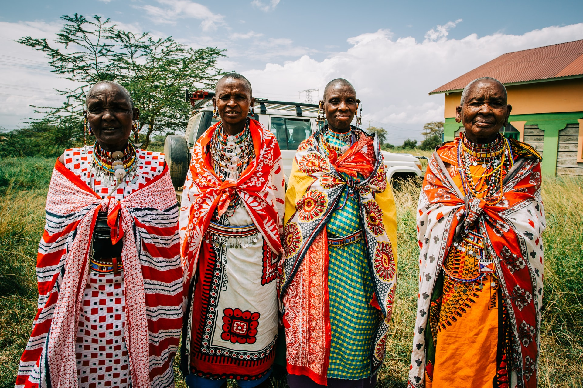 people dressed in traditional clothes